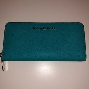 Michael Kors Continental Wallet in Turquoise